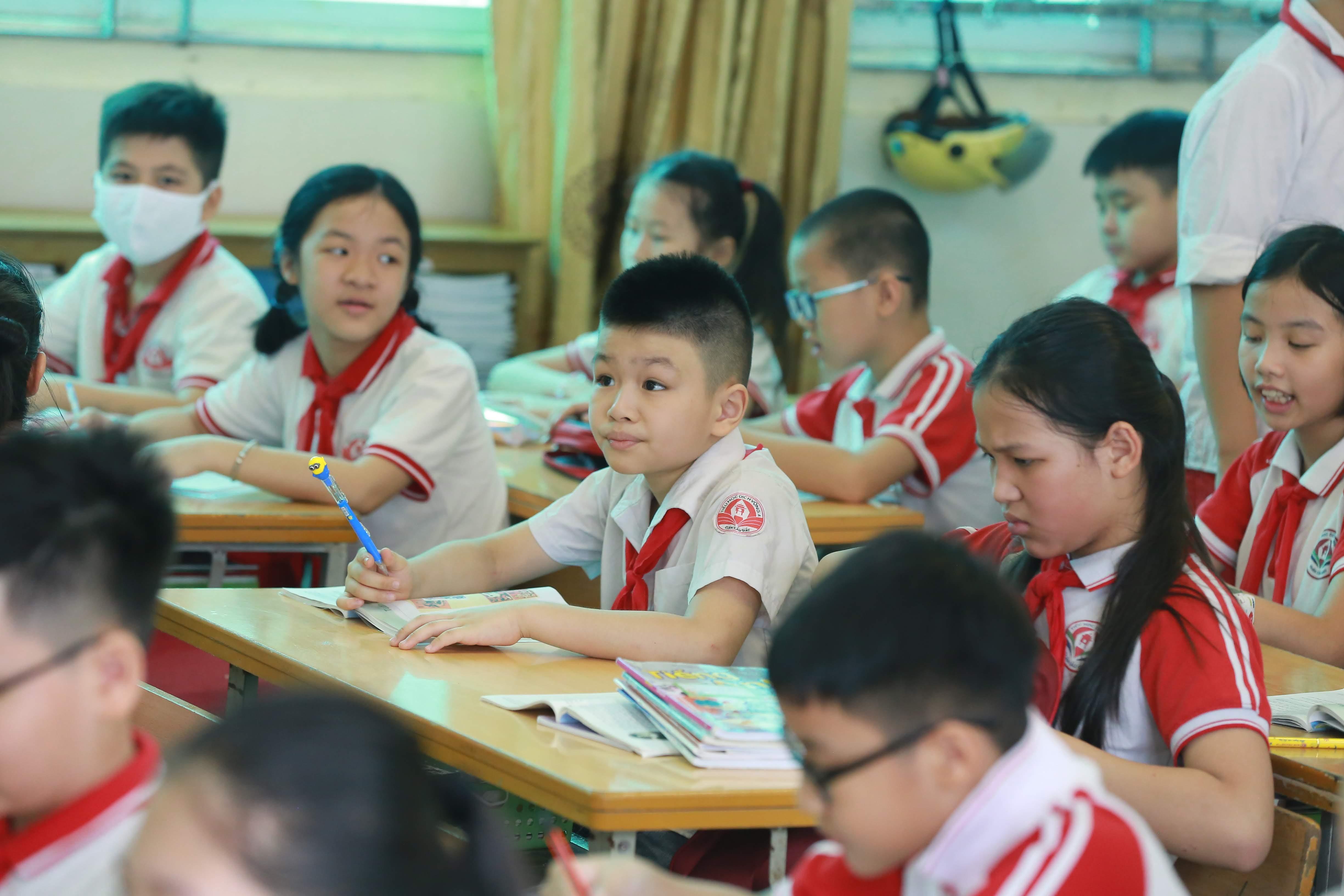 Học sinh tiểu học.Ảnh Quang Vinh.
