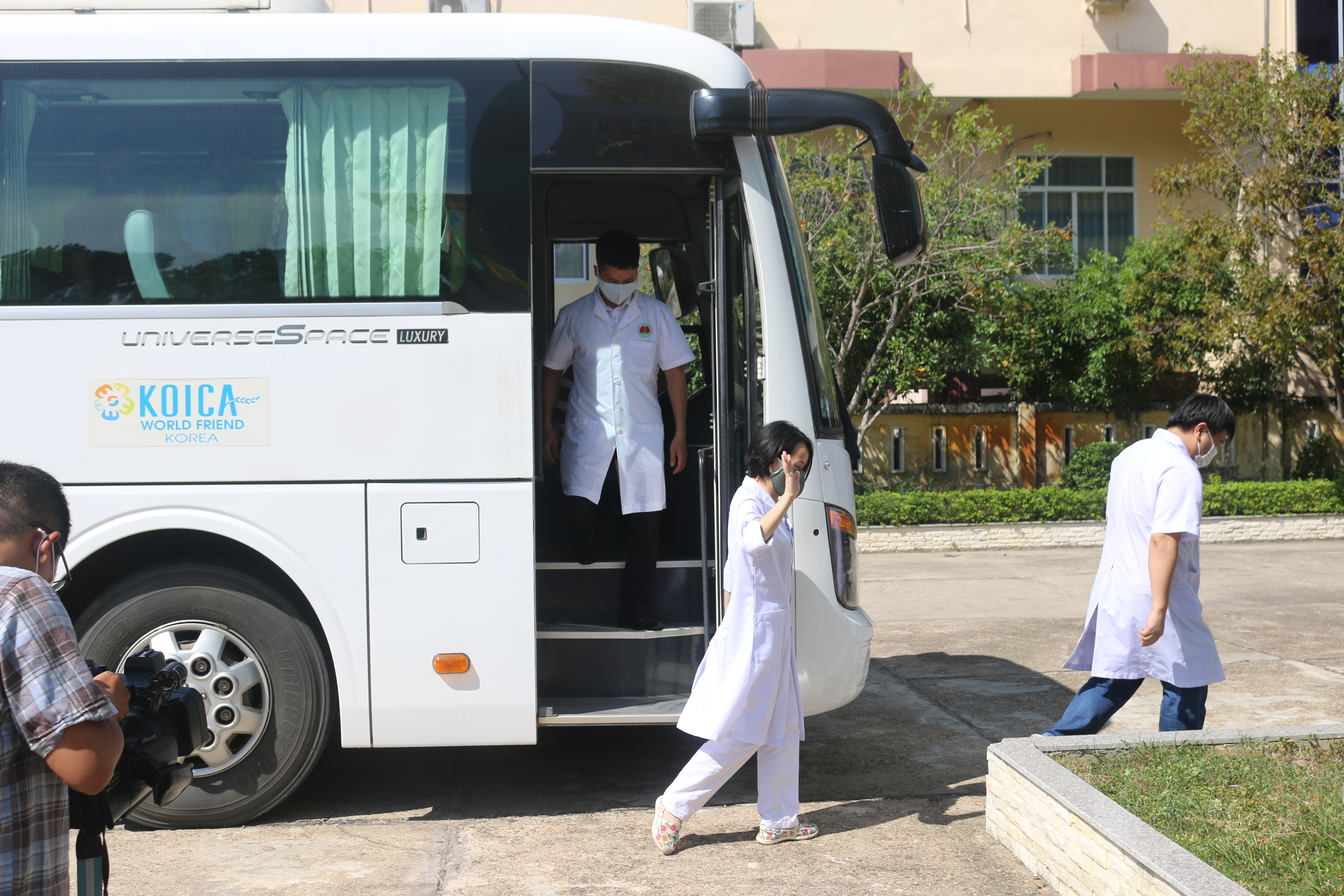Đoàn y tế tỉnh Phủ Thọ đặt chân xuống tỉnh Quảng Nam.