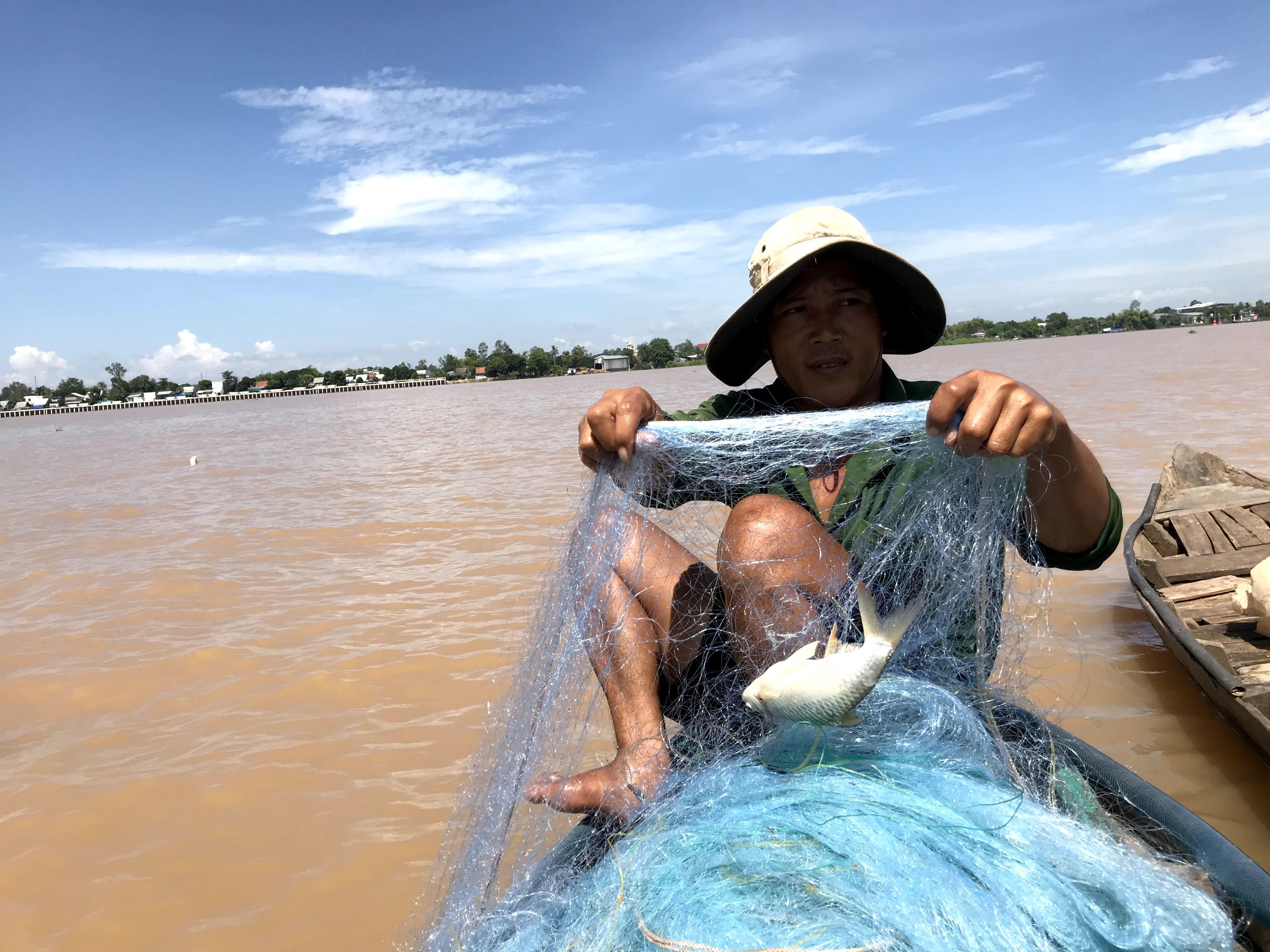 Giăng lưới đầu mùa nước.