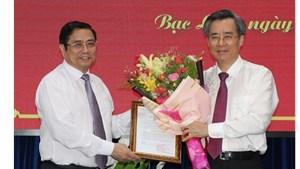 Bí thư Tỉnh ủy Hậu Giang giữ chức Bí thư Tỉnh ủy Bạc Liêu