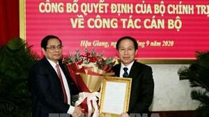 Ông Lê Tiến Châu được chuẩn y giữ chức Bí thư Tỉnh ủy Hậu Giang