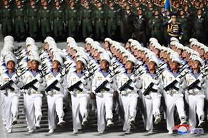 'Biển người' tham gia lễ duyệt binh hoành tráng của Triều Tiên