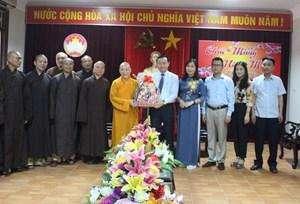Ban Trị sự Phật giáo chúc Tết MTTQ tỉnh Hà Tĩnh