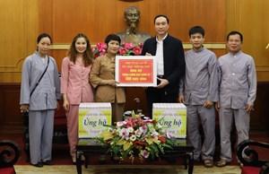 BẢN TIN MẶT TRẬN: Phó Chủ tịch Phùng Khánh Tài tại buổi tiếp nhận ủng hộ phòng, chống dịch Covid-19 từ nhiều cá nhân, tập thể