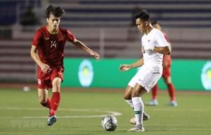 U22 Việt Nam tập kín chuẩn bị cho trận chung kết với U22 Indonesia