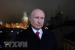 Tổng thống Putin kêu gọi người dân Nga đoàn kết nhân dịp Năm mới 2020