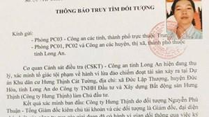 Truy tìm đối tượng liên quan đến dự án Khu dân cư Hưng Thịnh Cát Thịnh
