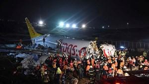 Máy bay trượt khỏi đường băng tại Thổ Nhĩ Kỳ: 158 người thương vong