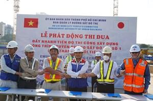 TP Hồ Chí Minh: Đẩy nhanh tiến độ thi công tuyến metro số 1 Bến Thành - Suối Tiên