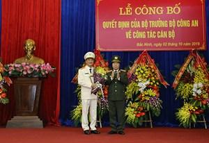Điều động, bổ nhiệm Giám đốc Công an hai tỉnh Bắc Giang và Bắc Ninh