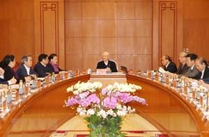 [Ảnh] Tổng Bí thư chủ trì họp Tiểu ban Văn kiện Đại hội XIII của Đảng