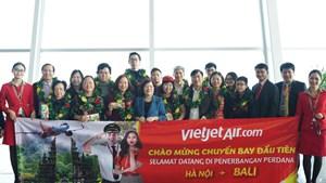 Đón Xuân rộn ràng cùng Vietjet với đường bay thẳng đầu tiên kết nối Hà Nội – Bali (Indonesia)