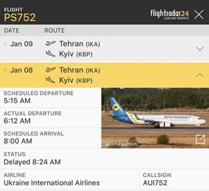Máy bay Boeing 737 của Ukraine chở 180 người gặp tai nạn tại Iran