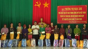 Phó Chủ tịch Trương Thị Ngọc Ánh thăm, tặng quà Tết đồng bào dân tộc thiểu số nghèo