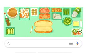 Bánh mì Việt Nam được Google Doodle vinh danh