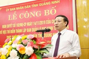 Công bố Nghị quyết của Chính phủ thành lập Ban Quản lý KKT Vân Đồn