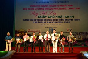 Thừa Thiên - Huế trao giải cho những ca khúc hưởng ứng 'Ngày Chủ nhật xanh'