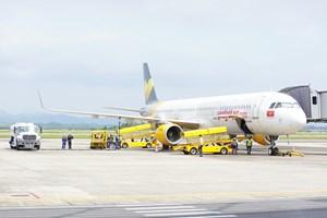 Vietjet 'mở hàng' sân bay Vân Đồn sau thời gian giãn cách