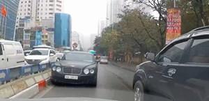 Tài xế lái 'siêu xe' Bentley chạy ngược chiều ở Hà Nội là ai?