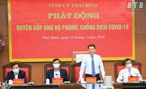 Thái Bình: Phát động quyên góp ủng hộ phòng, chống dịch Covid-19