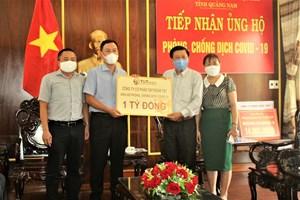 Mặt trận tỉnh Quảng Nam tiếp nhận hơn 1 tỷ đồng ủng hộ phòng, chống dịch Covid-19