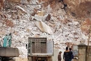 Bất ngờ lở mỏ đá, một công nhân tử vong
