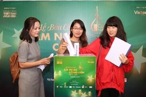 Bầu chọn Giải thưởng Âm nhạc Cống hiến lần 13-2018