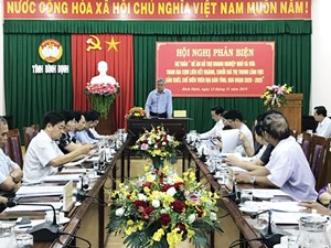 Bình Định: Mặt trận phản biện đề án hỗ trợ DN nhỏ và vừa