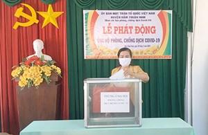 BẢN TIN MẶT TRẬN: Mặt trận huyện Hàm Thuận Nam (Bình Thuận) tiếp nhận ủng hộ phòng chống dịch Covid-19