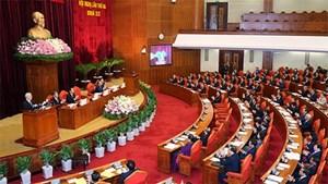Chủ tịch Quốc hội điều hành phiên họp của Trung ương bàn về đổi mới tổ chức bộ máy