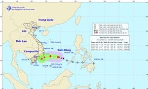 Cơn bão đầu tiên của năm 2018 hoạt động gần bờ biển Phú Yên-Bình Thuận