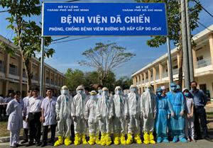 TP Hồ Chí Minh: Bệnh viện dã chiến đầu tiên phòng chống nCoV đi vào hoạt động
