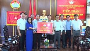Hơn 4 tỷ đồng hỗ trợ người dân Quảng Nam