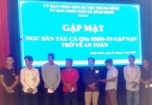 Quảng Nam: Thăm hỏi, hỗ trợ 30 ngư dân gặp nạn ở vùng biển Trường Sa