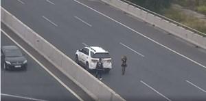 Đỗ ôtô trên cao tốc để chụp ảnh, nữ tài xế bị phạt 7 triệu đồng