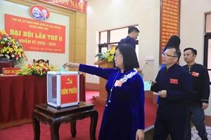 Quảng Ninh: Đại hội điểm Chi bộ Cơ quan khối MTTQ và các đoàn thể CT-XH huyệnBình Liêu