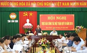 Bình Định: Hội nghị trực báo công tác Mặt trận quý III năm 2019