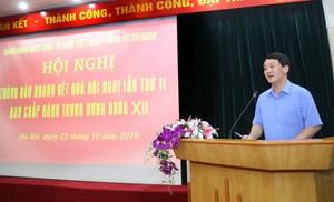Mặt trận Trung ương thông báo nhanh kết quả Hội nghị Trung ương 11 (khóa XII)