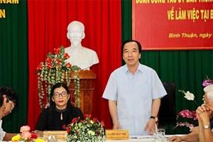 Mặt trận Trung ương kiểm tra công tác dân chủ - pháp luật tại Bình Thuận