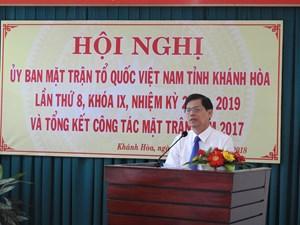 Mặt trận Khánh Hòa thực hiện tốt công tác cứu trợ