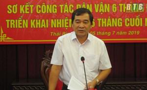 Thái Bình: Trưởng ban Dân vận được bầu làm Phó Bí thư Tỉnh ủy