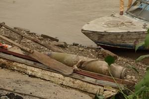 Hải Phòng: Phát hiện quả bom nặng hơn 200 kg nằm dưới chân cầu