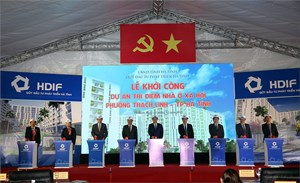 Phó Thủ tướng Vương Đình Huệ dự lễ khởi công Dự án nhà ở xã hội tại Hà Tĩnh