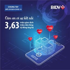 BIDV cùng khách hàng ủng hộ hơn 3,63 tỷ đồng ủng hộ phòng chống dịch Covid-19
