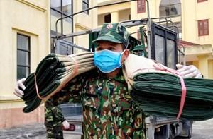 [Ảnh] Quân đội trên tuyến đầu phòng chống dịch bệnh