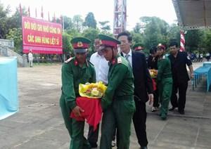 Tiếp nhận và an táng 21 hài cốt liệt sỹ hy sinh tại Campuchia