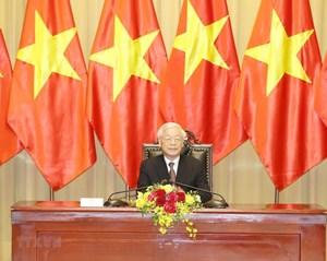 Thông điệp của Tổng Bí thư, Chủ tịch nước nhân dịp Việt Nam đảm nhận trọng trách mới