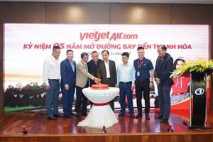 Vietjet phục vụ 2,2 triệu lượt hành khách sau 5 năm cất cánh tại Thanh Hoá
