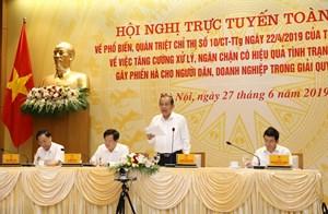 Phó Thủ tướng Thường trực chủ trì Hội nghị toàn quốc xử lý 'tham nhũng vặt'