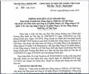 Sai phạm tại Tổng công ty Thiết bị Y tế Việt Nam: Làm rõ trách nhiệm tập thể, cá nhân liên quan